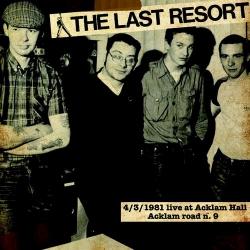 The Last Resort - 4/3/1981 Live At Acklam Hall - Acklam Road N.9 - LP
