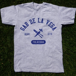 Gab De La Vega - Folkcore - Grigia - T-Shirt