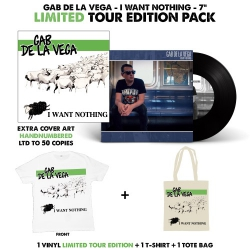 "Gab De La Vega - I Want Nothing - 7"" - Limited Edition Pack"