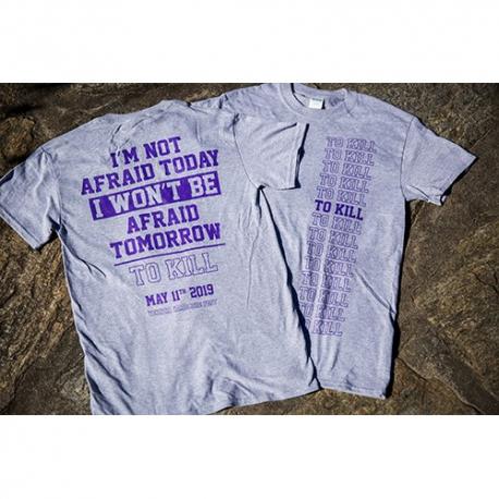 To Kill - I'm Not Afraid Today - Grigio e Viola - T-Shirt