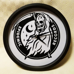Epidemic Records - Logo - Wall Clock
