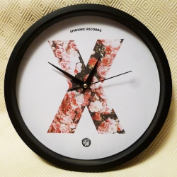 Epidemic Records - X Clock (Roses) - Wall Clock