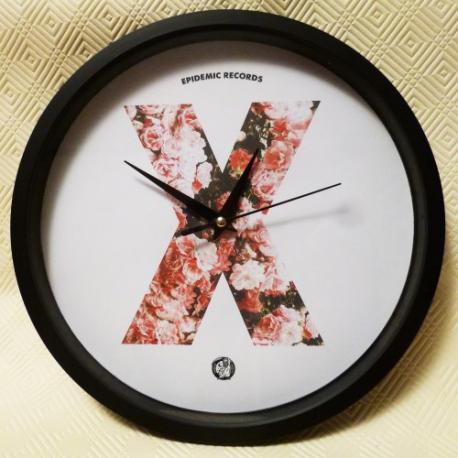 Epidemic Records - X Clock (Roses) - Wall Clock