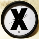 Epidemic Records - X Clock (Black) - Wall Clock
