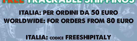 Free Trackable Shippings all December! / Spedizioni Tracciabili Gratis tutto Dicembre!